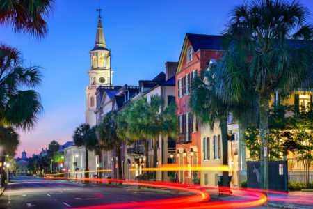 Charleston, South Carolina, USA city at St. Michael's Episcopal Church