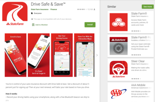 State Farm Drive Safe and Save App Google Play